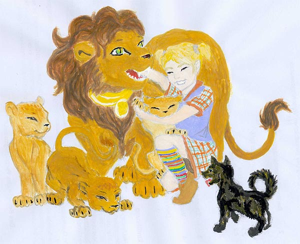 Elli and the lions